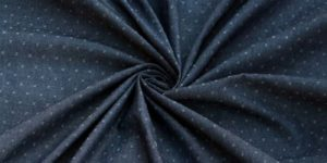 Unstitched Woven Blue Dobby Fabric