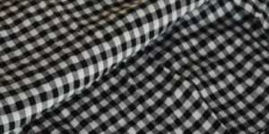 White Check Fabric