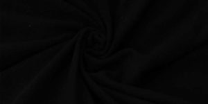 Black Anti Pilling knitted Fleece Fabric