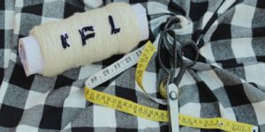 Unstitched Cotton White and black flannel fabric