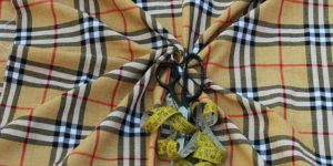 Yarn Dyed Cotton Burberry Check Fabric