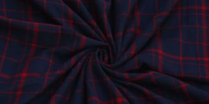 Yarn Dyed Cotton Navy Blue Check Fabric