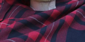 Yarn Dyed Herring Bone Cotton Check Fabric