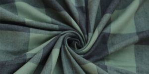 Yarn Dyed Cotton Mill Made Green Check Fabric