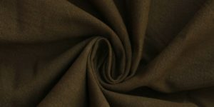Brown Solid Printed Cotton Canvas Fabric