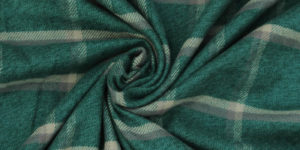 Yarn Dyed Cotton Green Flannel Fabric