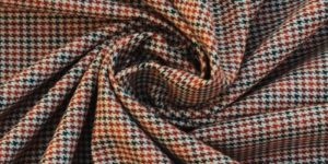 Unstitched Dog Tooth Tweed Fabric